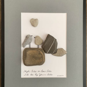 pebble art - birds on rocks